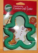 "Wilton 4"" Comfort Grip & Metal Cookie Cutter Christmas Gingerbread Man Shape NEW"
