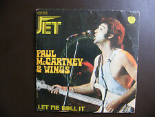 "SP PAUL MC CARTNEY&WINGS ""Jet"" Apple Records ‎– 2 C008-05554 France (1974)"