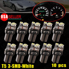 10x Pure White T5 3SMD LED Instrument Panel Dash Gauge Side Indicator Light Bulb