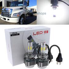 120W Bright White LED Headlight Lamp Bulbs Kit For Hino 145 165 185 258 268 338