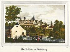 Merseburg-Castillo-Saxonia-iluminados litografía 1837