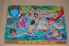 Antique Retro 1950s Jumbo Junior King Kids in Swimming Pool Puzzle 50 pcs
