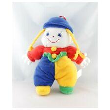 Doudou lutin clown bleu jaune rouge vert SIPLEC - Clown Classique