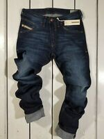 RRP $179 NEW DIESEL MEN'S JEANS BELTHER 0R0S3 REGULAR SLIM TAPERED BLUE