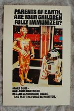 R2D2 C3P0 Immunized promotional poster 1980 Star Wars __