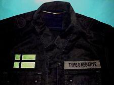 Type O Negative Vinnland Black (No.1) Army Shirt Pete Steele Bloody Kisses Metal