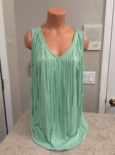 """I.scenery Green With Front """"Ribbons"""" Women's Top. Size 1X. NEW."""
