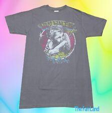 New Van Halen 1984 Tour Of The World Concert Gray Vintage Retro Mens T-Shirt