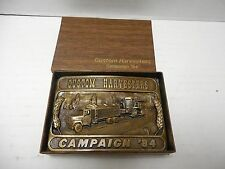 1984 Custom Harvesters Campaign Belt Buckle Ltd Ed.