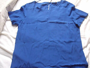 LONG BLUE DRESSY TOP by GEORGE NEW AND TAGGED