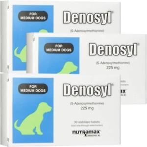 Nutramax Denosyl Tablets for Medium Dogs 225mg 90CT