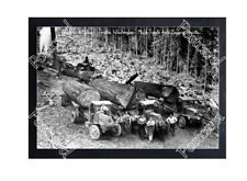 Historic Knutson & Nelson Logging Co- Grotto, Washington, Mack Truck Postcard 1