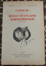L'OISEAU et la Revue française d'Ornithologie ✤ VoL XXIII / 2è trimestre 1953