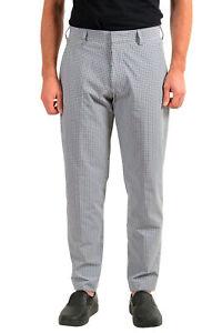 "Hugo Boss Men's ""Christof2/Pristo2"" Plaid Flat Front Casual Pants US 32R IT 48"
