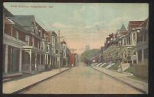 POSTCARD HAGERSTOWN MD/MARYLAND EAST AVENUE FAMILY ROW HOMES/HOUSES 1907