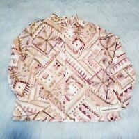 Petite Medium - Alfred Dunner multicolor fleece zip up jacket silver studded NWT