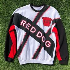 -Rare VTG 90s JJ Macintire Red Dog Beer All over Print Crew Neck Sweat Shirt 2XL