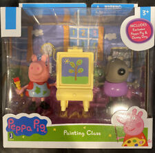 """NEW Peppa Pig & Danny Dog Painting Class Play set 3"""" Figures"""