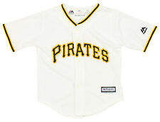 Majestic MLB Baseball Toddlers Pittsburgh Pirates Home Jersey, White