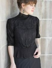 Victorian Trading Co Noir Lace Blouse Black XL