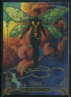 2018 Marvel Masterpieces Gold Foil Trading Card #37 Wasp (Tier 2)