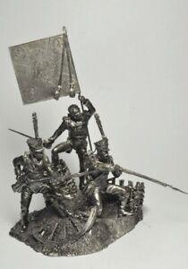 Tin soldier handmade Diorama Grenadiers Napoleonic Wars figure metal 54mm