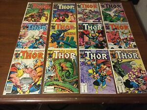 Bronze Age lot of 12 THOR Comic Books BY MARVEL VINTAGE BETA RAY BILL!  009