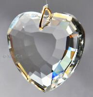 45mm Heart Crystal Clear Faceted Pendant Prism SunCatcher 1-3/4 inch