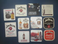 11 different JIM BEAM Bourbon Whisky ,Australian Issued  BEER Coasters