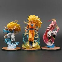 Dragon Ball Z Goku Gotenks Majin Buu Action Figures Super Saiyan 3 Collection
