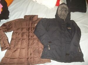 TWO 2! The North Face Goose Down Parka Jacket Coat XS Greenland Metropolis READ