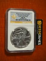 2012 (W) SILVER EAGLE NGC MS70 ER STRUCK AT WEST POINT MINT GOLD STAR LABEL