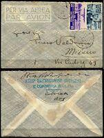 543 - Colonie, Eritrea, Etiopia - Affrancatura mista + annullo Debarek, 1937