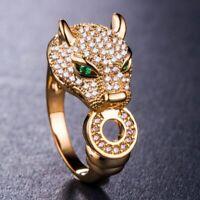 Ring Damen Strass Zirkonia Design Blogger Luxus Panther Carter Leopard Versilber