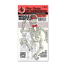 Art Impressions Skeleton Wiggle Wobble Halloween Stamp & Die Set 4952 NEW!
