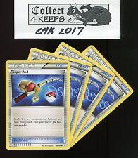 Noble Victories 95/101 4x Super Rod Unplayed Playset Pokemon TCG