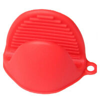Silicone Oven Heat Insulated Finger Gloves Cooking Microwave Non-slip(Red) BT