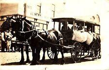 CC49. Vintage Canadian RP Postcard. Horse drawn bus.