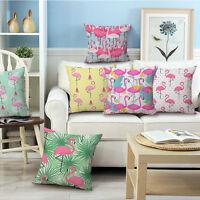 Plants Simple Fresh Flamingo Car Sofa Home Decor Pillow Case Cushion Covers