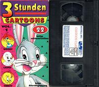 (VHS) 3 stunden Cartoons Vol. 1 - 22 lustige Zeichentrickfilme