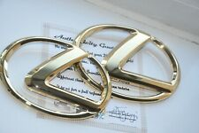 24K Gold Plated LEXUS GRILLE BOOT BADGE Rear Emblem IS 250 350 2005-2012 Mk2 ISF