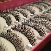 10 Pairs Long Thick Cross Makeup Beauty False Eyelashes Eye Lashes Extension
