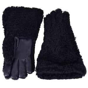 Dolce & Gabbana Runway Knight Deerskin Fur Gloves Black Gloves 06472