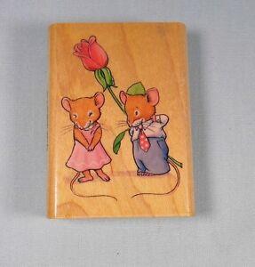 Rubber Stamp Wood - Town Mouse 1999 by David Seiks #6548 Inkadinkado