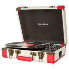 NEW Crosley CR6019D-RE Executive Portable USB Turntable Record Player RED WHITE