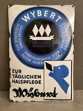 Emailschild Wybert Husten Pastillen um 1930 Reklame Schild Apotheke Werbung