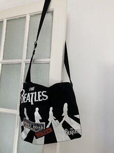 The Beatles Abbey Road Cross Body Large Messenger Bag Black