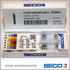 CCMT 21.51 MF2 TP2501 SECO ** 10 INSERTS *** FACTORY PACK ***