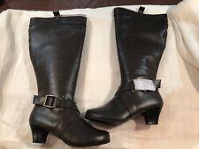 NIB Womens Comfortview Brown Wide Calf Boots Sz 10WW (Extra Wide)
