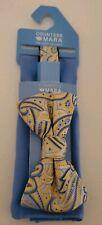 Countess Mara Paisley Bow Tie. PTPS-Pastel Paisley/TWL. Blue and gold. New.